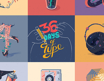 36 Days of Type // ILLUSTRATED NUMBERS