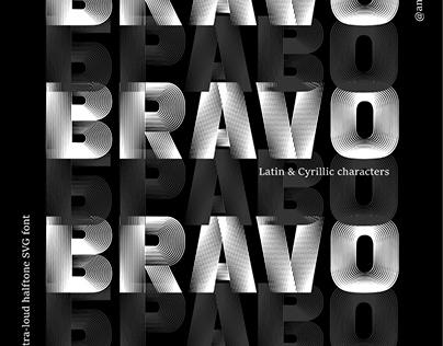 SVG BRAVO font