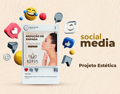 Social Media - Clínica de estética Lótus
