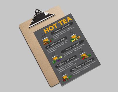 Hot drinks menu for coffee shop | Меню горячих напитков