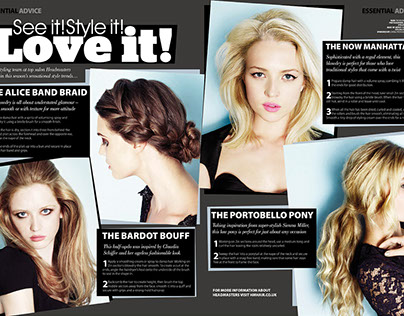 Your Hair Magazine: Layout Design & Typography