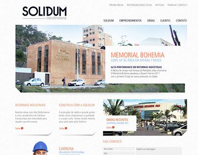 Solidum Construtora, web