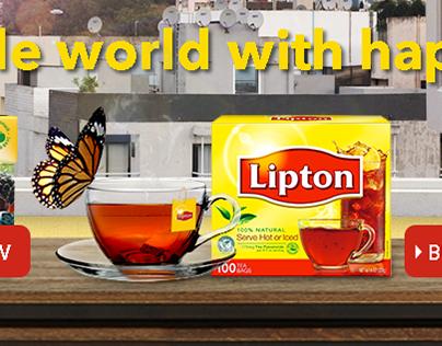 Lipton Tea Pushdown Banner