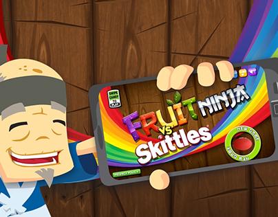 Fruit Skittles Ninja Skittles vs Fruit Ninja