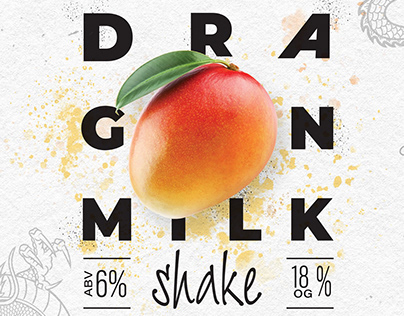 «DRAGON MILK». Beer label design