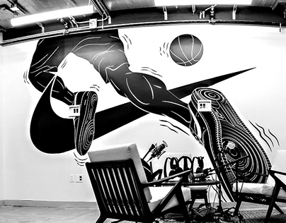NIKE / NYC Headquarters Mural Illustrations