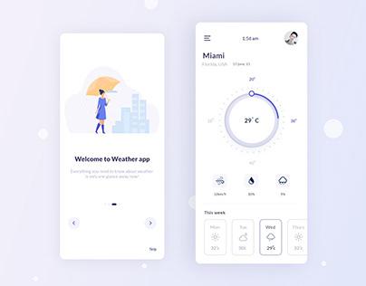 Most Trending UI Design for Weather App