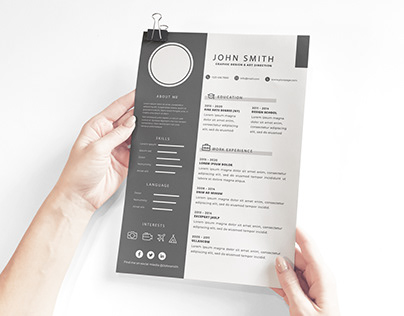 Free Download Corporate Resume Template