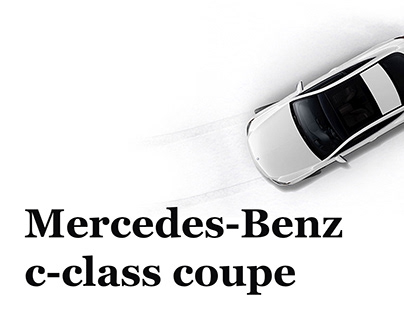Mercedes c-class coupe (unofficial ads)