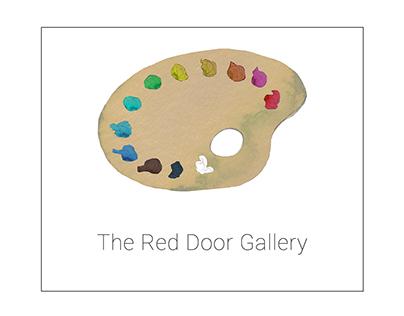 Logo for Red door art shop