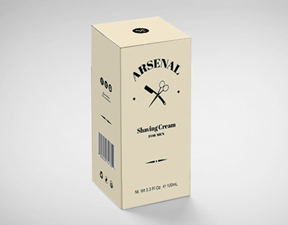 Arsenal Men's Shaving Cream Product Design