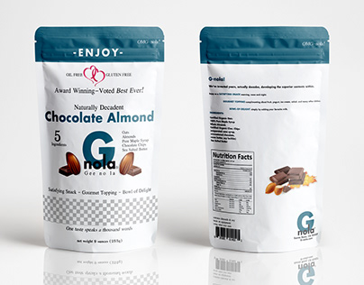 G-nola Healthy Granola Topping packaging design