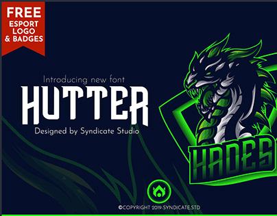 HUTTER   Esport Font + FREE Logo and Badges