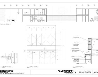 Eames House CAD Drawings