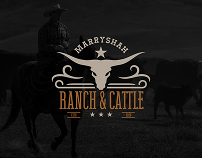 Marryshah ranch and cattle branding design concepts