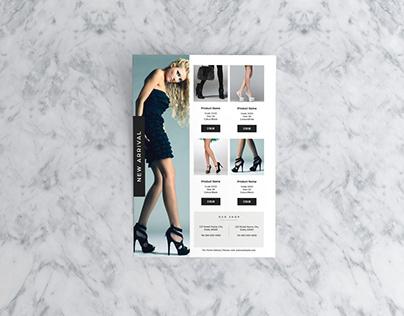 Girl Shoe Sale Flyer