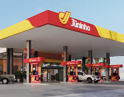 Identidade Visual - Rede Juninho - Gas Station
