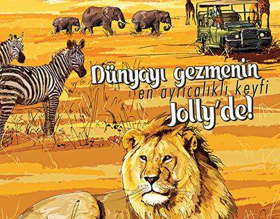 Jolly Tours international tour catalogue's cover art.