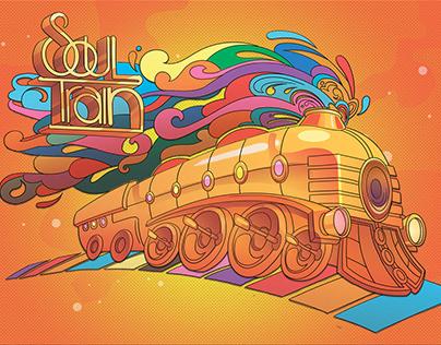 Soul Train. Баннер-декорация.