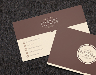 Cleaning company logotype & businesscard.