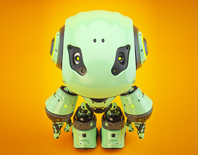 BIGHEAD robot. Olive