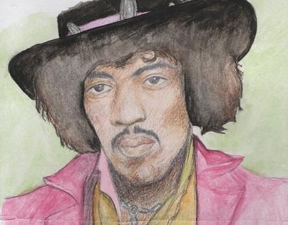 Jimi Hendrix painting