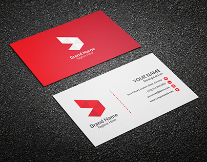 Corporate Business card with Logo, Business design,