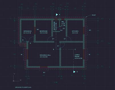 AUTOCAD | FLOOR PLAN AND ELEVATION