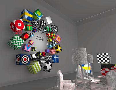VR memory concentration game for Google Cardboard