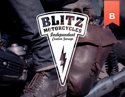BLITZ MOTORCYCLES LOGO AND IDENTITY