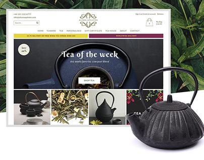 Alison Appleton Tea and Tea Ware - Ecommerce Website