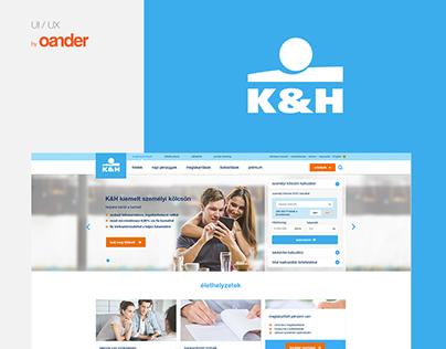 K&H Bank website redesign