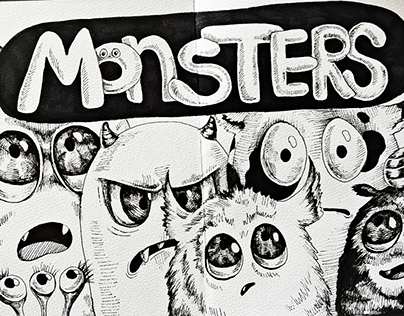 Funny monsters - Sketchbook Characters
