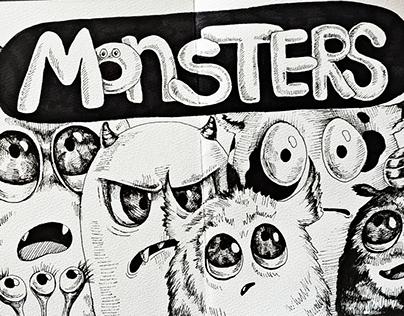 Funny monsters - Sketchbook Characters