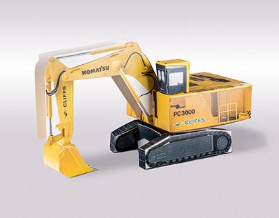 Excavator Cardboard Model