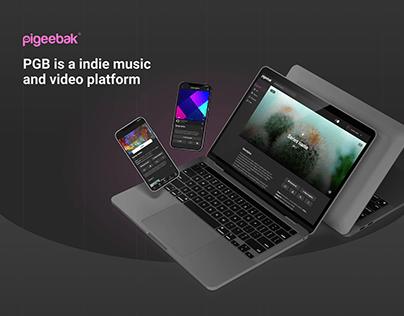 Pigeebak | music and video platform | social network