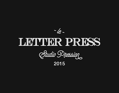 Letter Press - Studio Pression