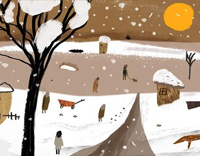 Greeting Winter Season