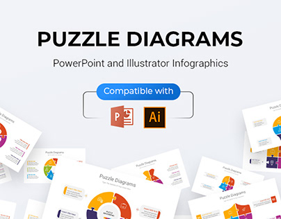 Puzzle Diagrams PowerPoint & Illustrator Template