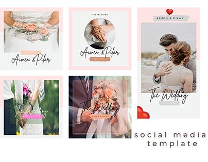 SOCIAL MEDIA TEMPLATE ( THE WEDDING )
