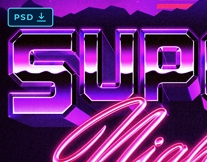 [PSD] 80S VAPORWAVE TEXT AND LOGO STYLE