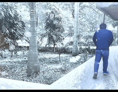snow vfx composition, after effects
