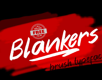 Blanker Free Font for commercial use