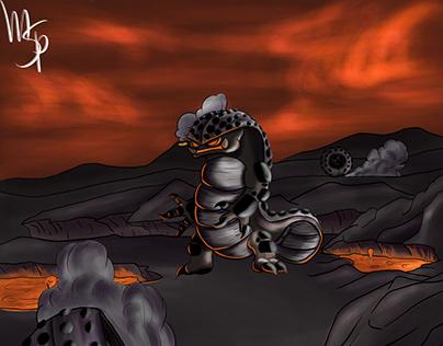 Flaming armadillo
