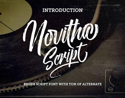Novitha Free Elegant Script Font