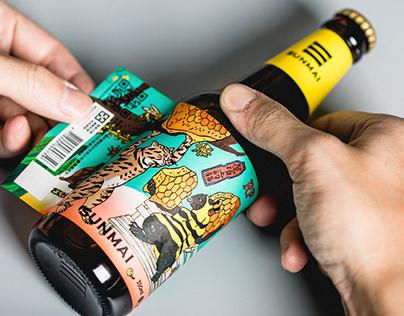 [屋頂上的貓 X 金色三麥SUNMAI ] Wine Labels