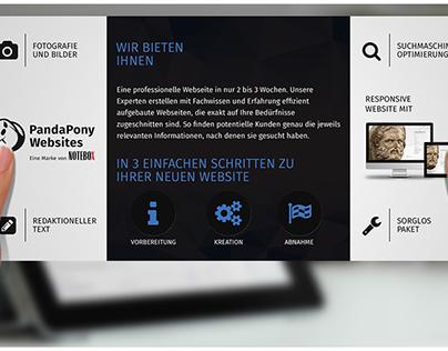 PandaPony Websites loop brochure