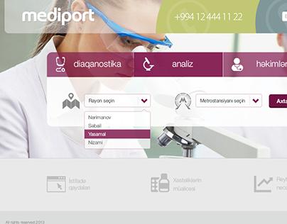 "Initial design for ""Mediport"""