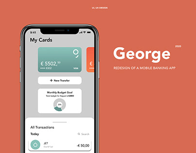 George - Mobile banking app redesign