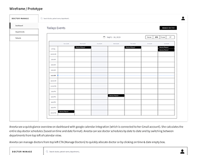 Doctor Scheduling - UX Case Study